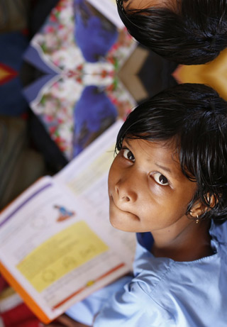 Supporting girls education in India